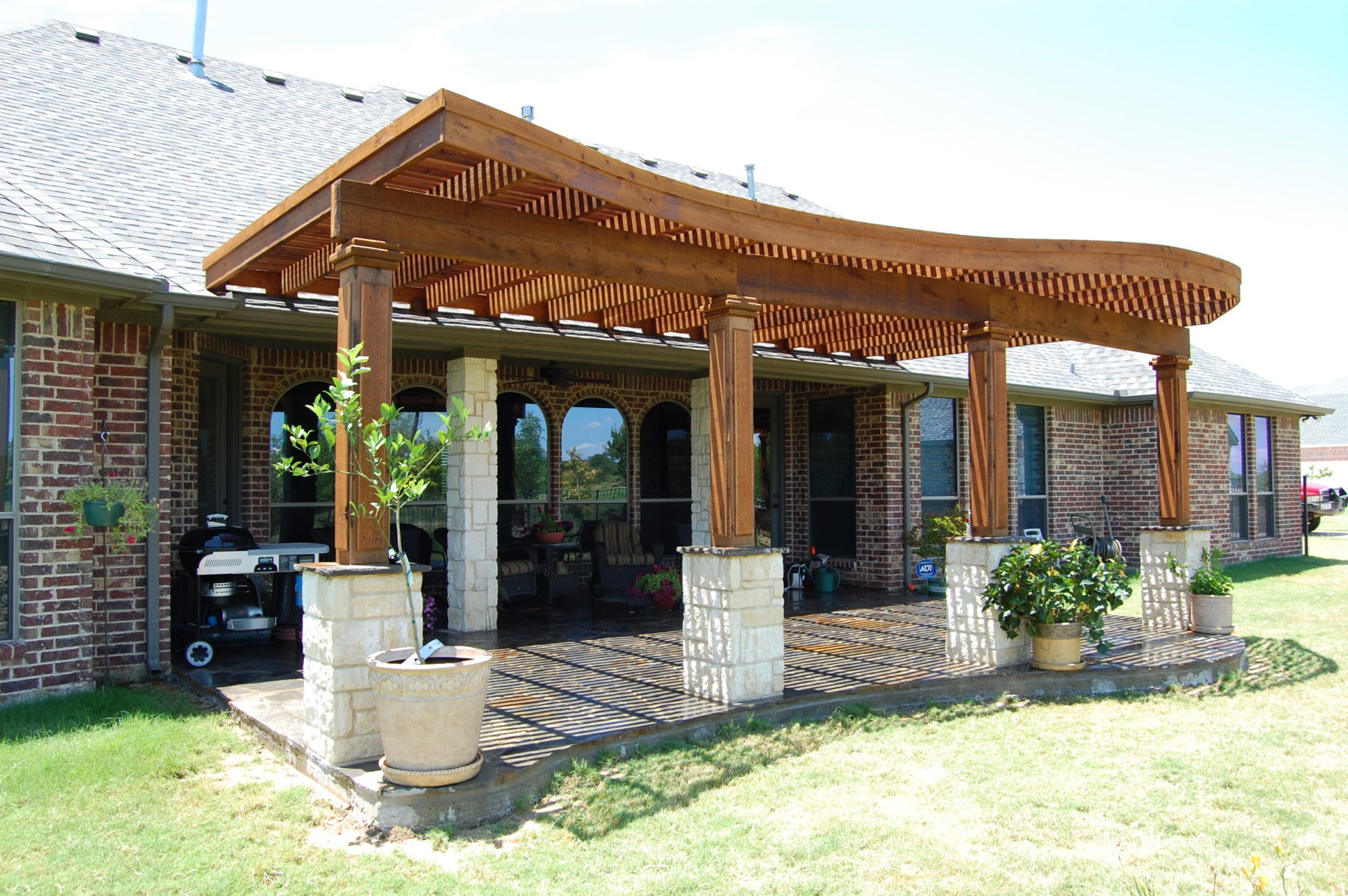 Radius edge shade structures custom patio designs for Home shade structures