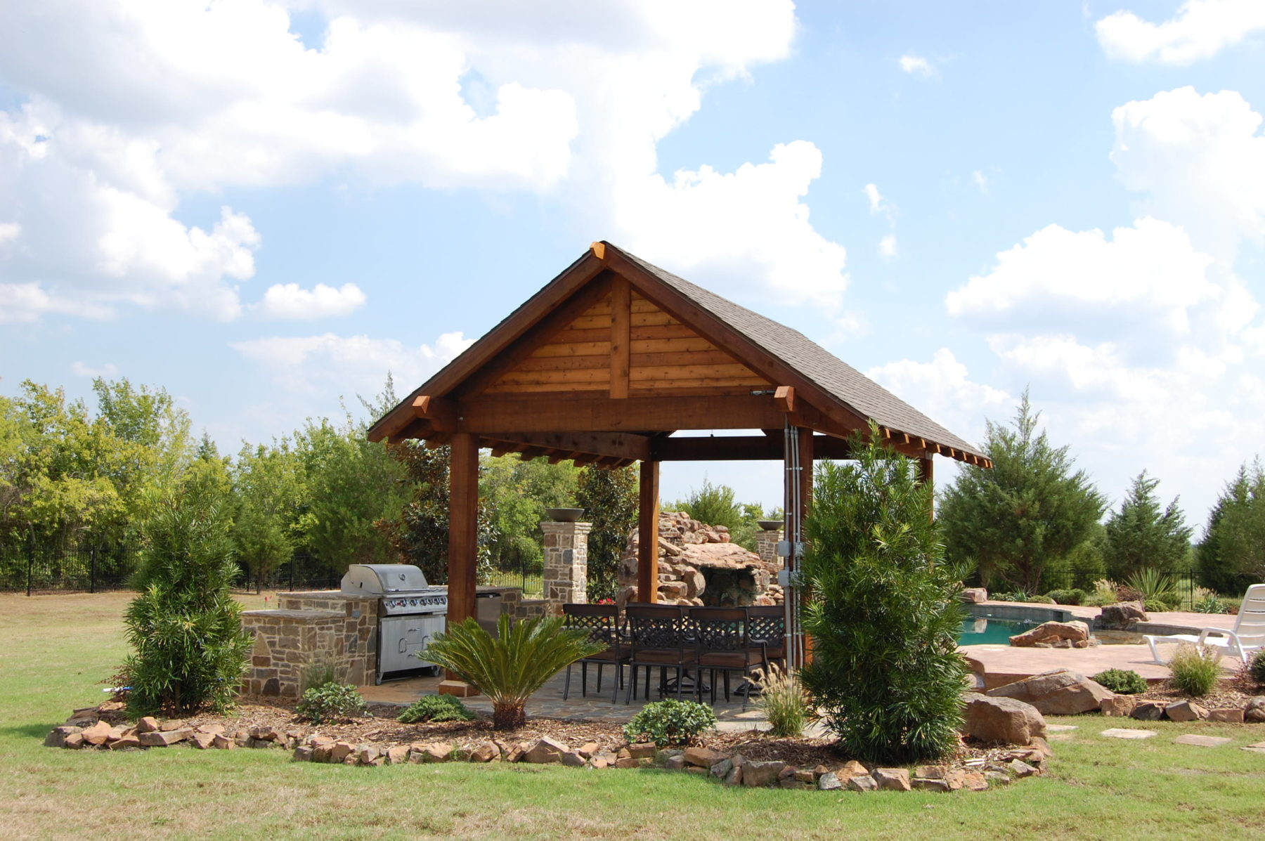 Cabanas custom patio designs forney tx for Home shade structures