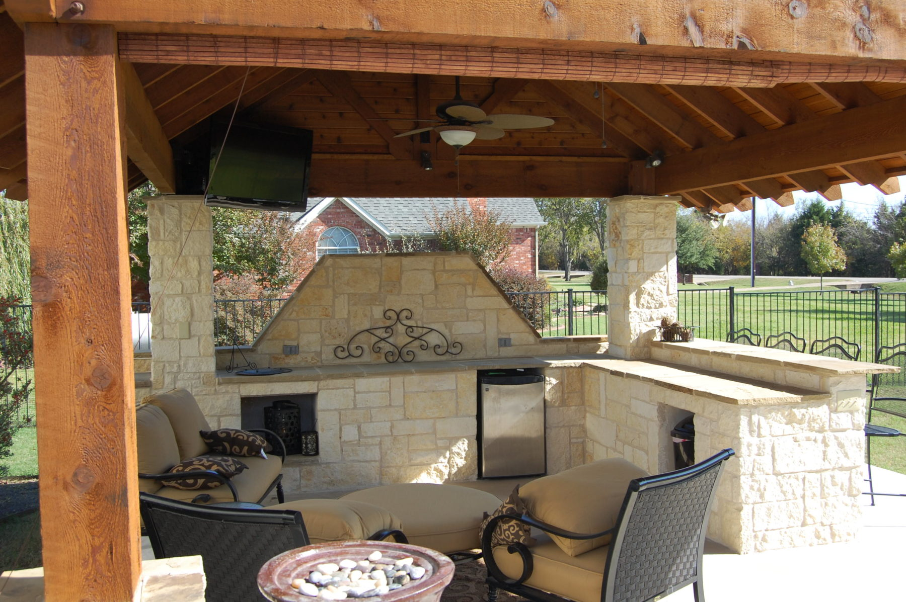 Outdoor kitchens custom patio designs forney tx for Deck kitchen ideas