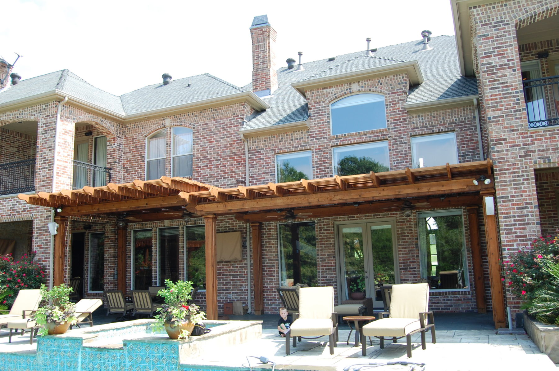 Multi level shade structures custom patio designs forney tx - Smeedijzeren pergola ...