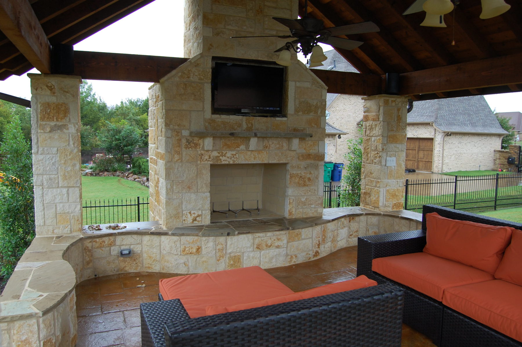 Cabanas custom patio designs forney tx for Custom backyard designs