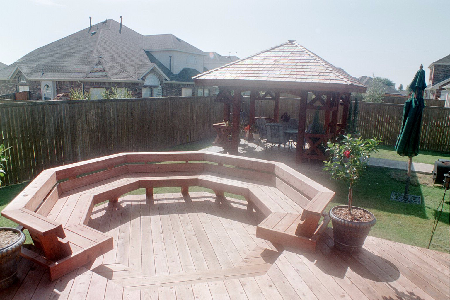 Decks custom patio designs forney tx for Custom backyard designs